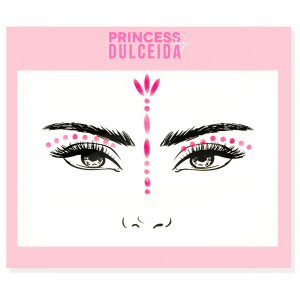 Princess By Dulceida Face Sticker Gemas Oro