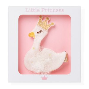 Little Princess Clip Cisne Beige