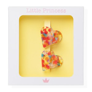 Little Princess Set de 2 Pincitas Corazón Carey Multicolor