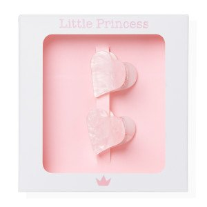 Little Princess Set de 2 Pincitas Corazón Carey Rosa