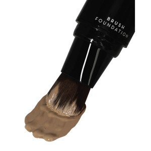 Pump-Up Brush Foundation Medium Deep