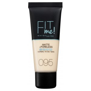 Fit Me Matte + Poreless Base de Maquillaje 95 Fair Porcelain