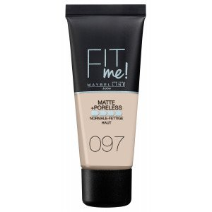 Fit Me Matte + Poreless Base de Maquillaje 97 Natural Porcelain