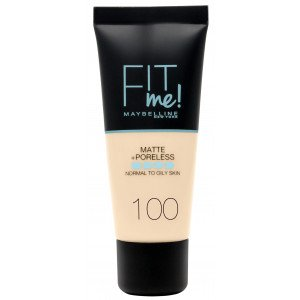 Fit Me Matte + Poreless Base de Maquillaje 100 Warm Ivory