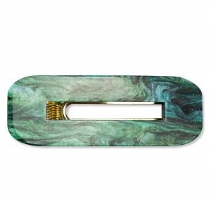 Oh My Hair Clip Carey Rectangular Verde