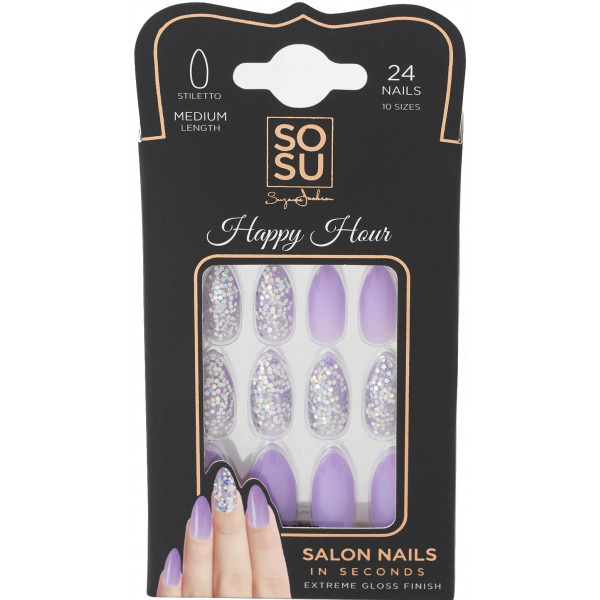 Set Uñas Postizas Happy Hour